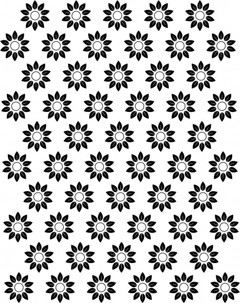 Black Daisy Wallpaper Floral Repeat Pattern Free Stock Photo Public Domain