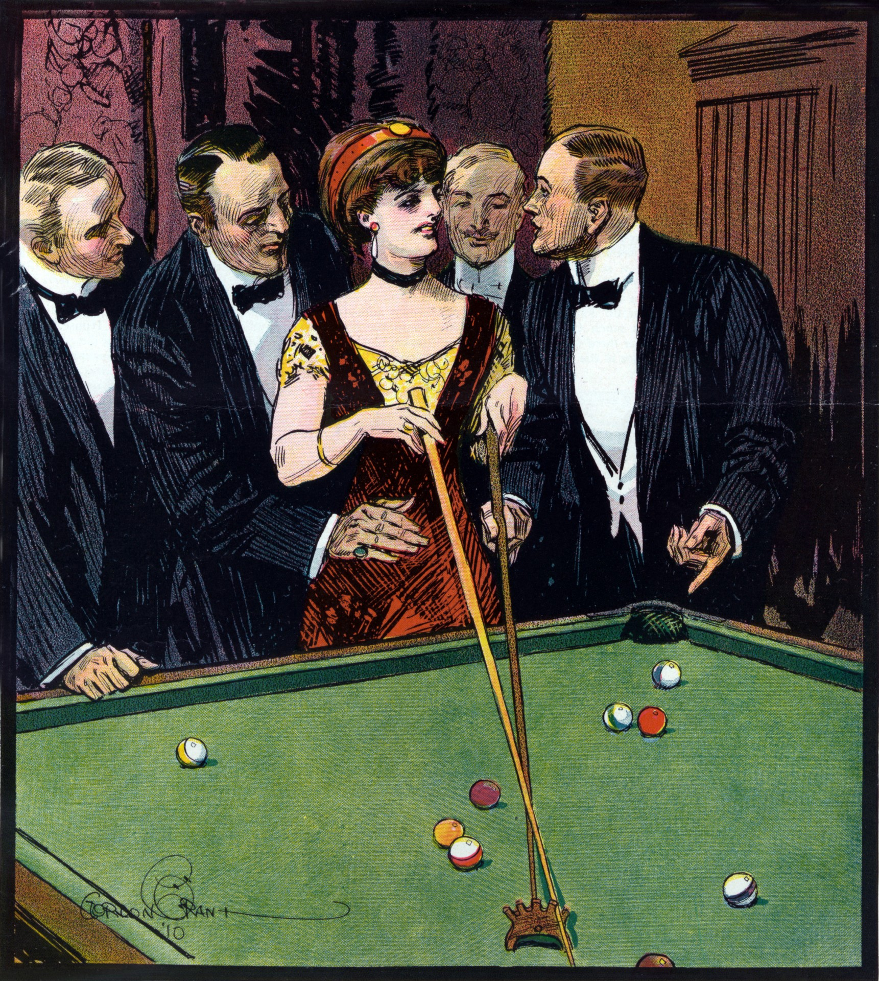 Beautiful Girl Wallpapers Free Playing Pool Vintage Poster Free Stock Photo Public