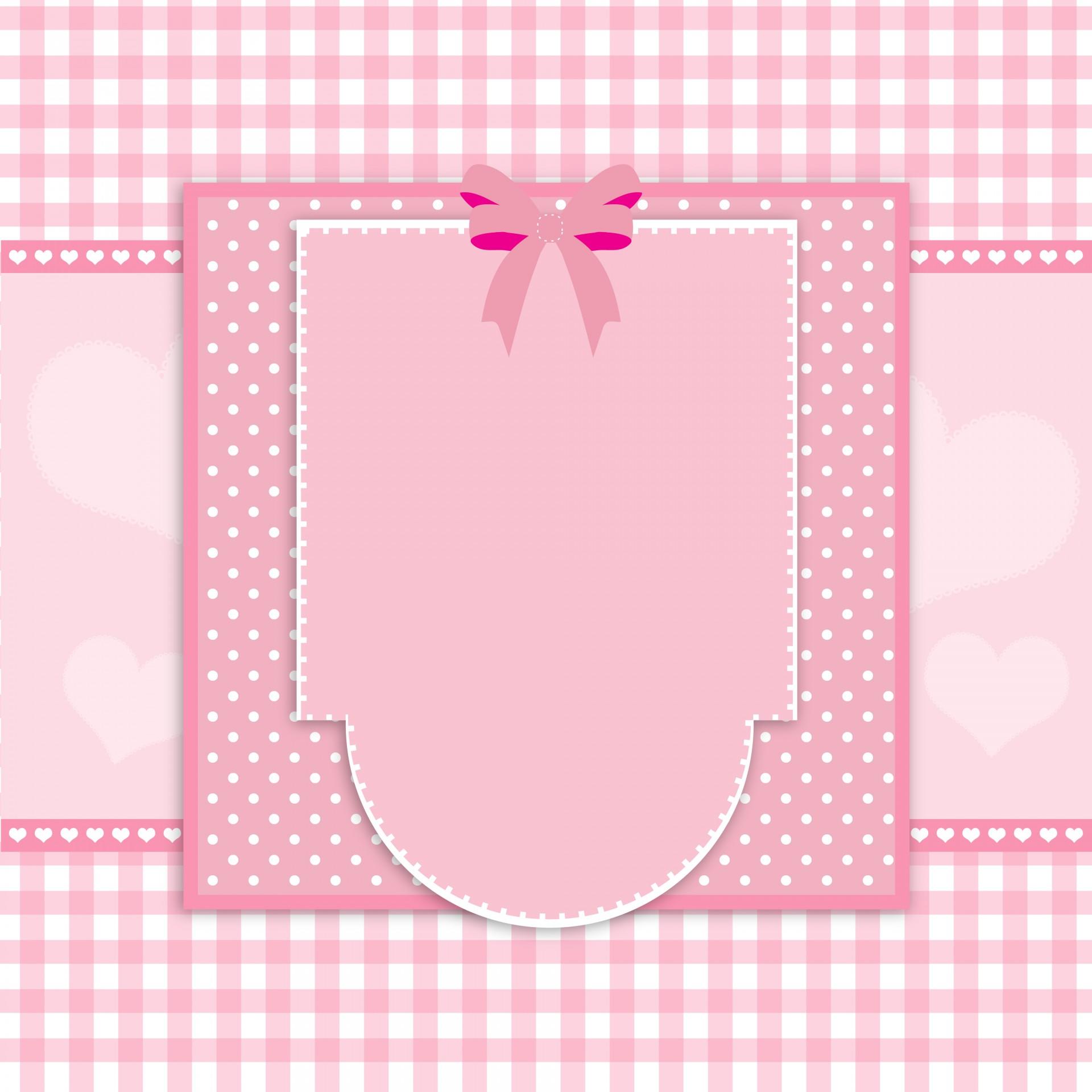 Black And White Polka Dot Wallpaper Border Fancy Pink Card Frame Free Stock Photo Public Domain