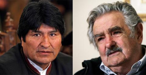 Evo Morales y Jose Mujica. EFE