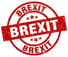 76444125 - brexit round red grunge stamp