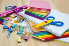 43496056 - school supplies on the table
