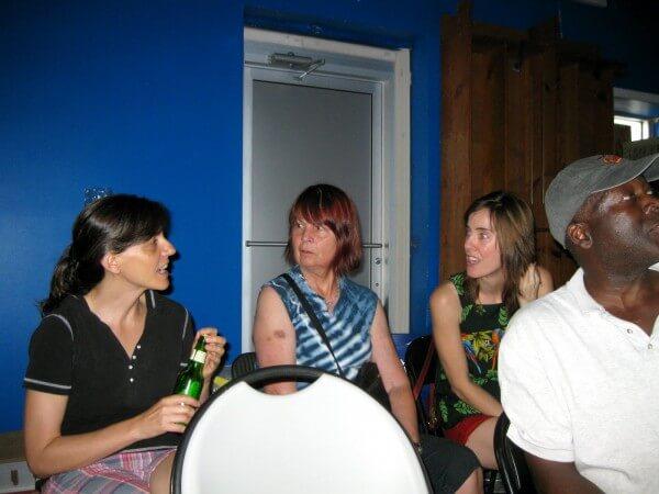 Stephanie Barber, Linda Franklin, Megan McShea, handsome stranger