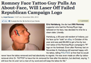 Romney tattoo