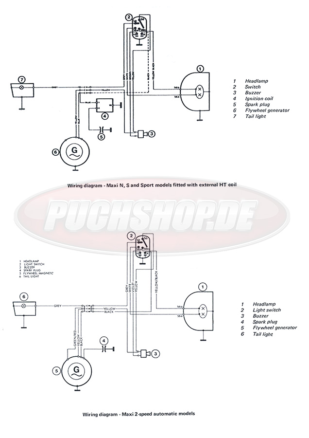 Puch Wiring Diagram Index listing of wiring diagrams