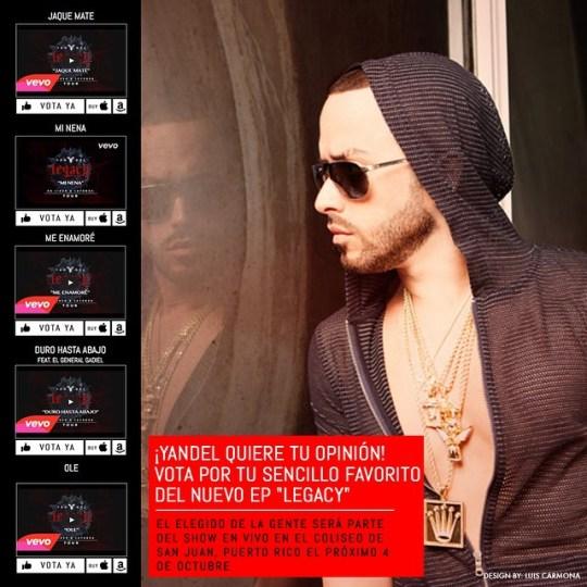 Ya puedes votar por tus canciones favoritas. www.yandellaleyenda.com/legacy @yandel #legacy #conciertooctubre4 #coliseodepuertorico @puertoricounder