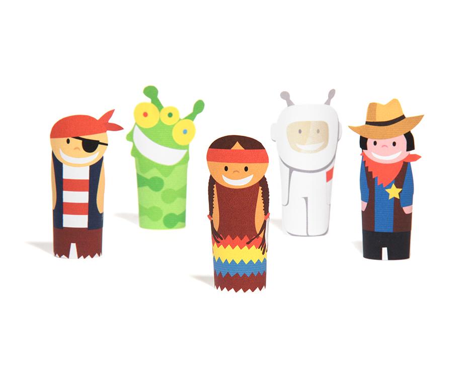 Fantastic Heroes Paper Finger Puppets Printable Pdf Pukaca