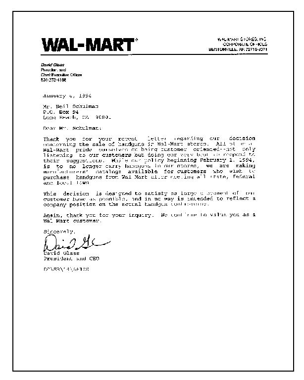 Walmart Stores Jobs Walmart Stores Online Job Application J Neil Schulman's Stopping Power — Excerpts From A Letter