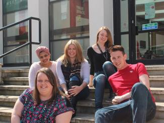 Left to Right - Top to Bottom: SAC members Tas, Lucy, Josie, Hannah, Tom