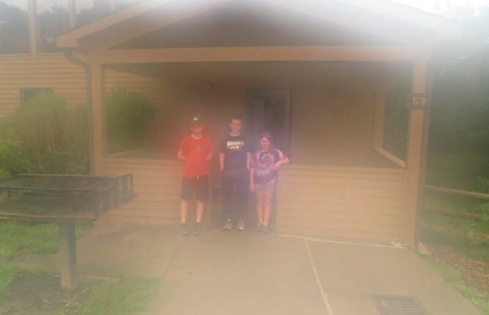 Goodbye, Cabin #53, thank you for the memories.  And the humidity that fogged my camera lens for one final pic.