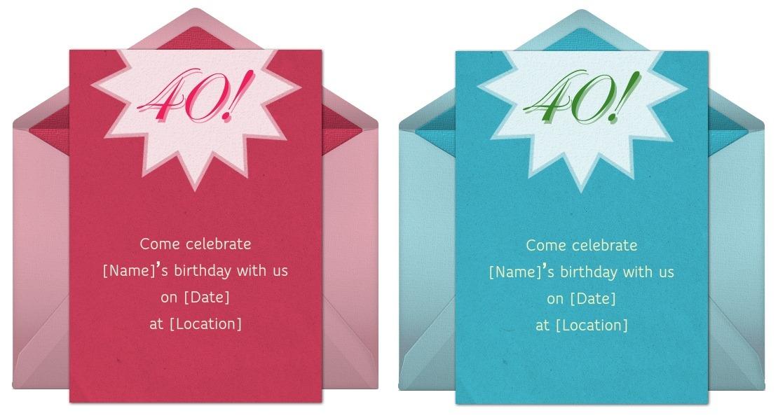 40th Birthday Ideas 40th Birthday Ideas For Invitations