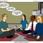 Sesión de meditación Geek
