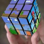 Cubo de Rubik hecho con escenas de Super Mario