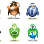"""Íconos sociales con diseño """"twitterezco"""""""