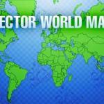 Mapa mundial vectorizado