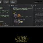 Presentación de la película Star Wars hecha con HTML, CSS y JS