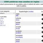 Las 1500 palabras más usadas del inglés y su pronunciación online