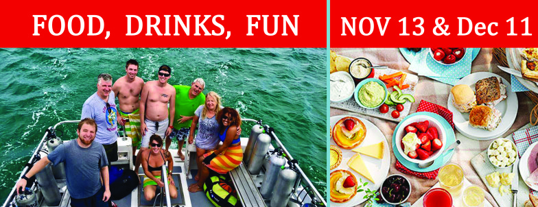 Afternoon Delights – Eat, Drink & Dive!