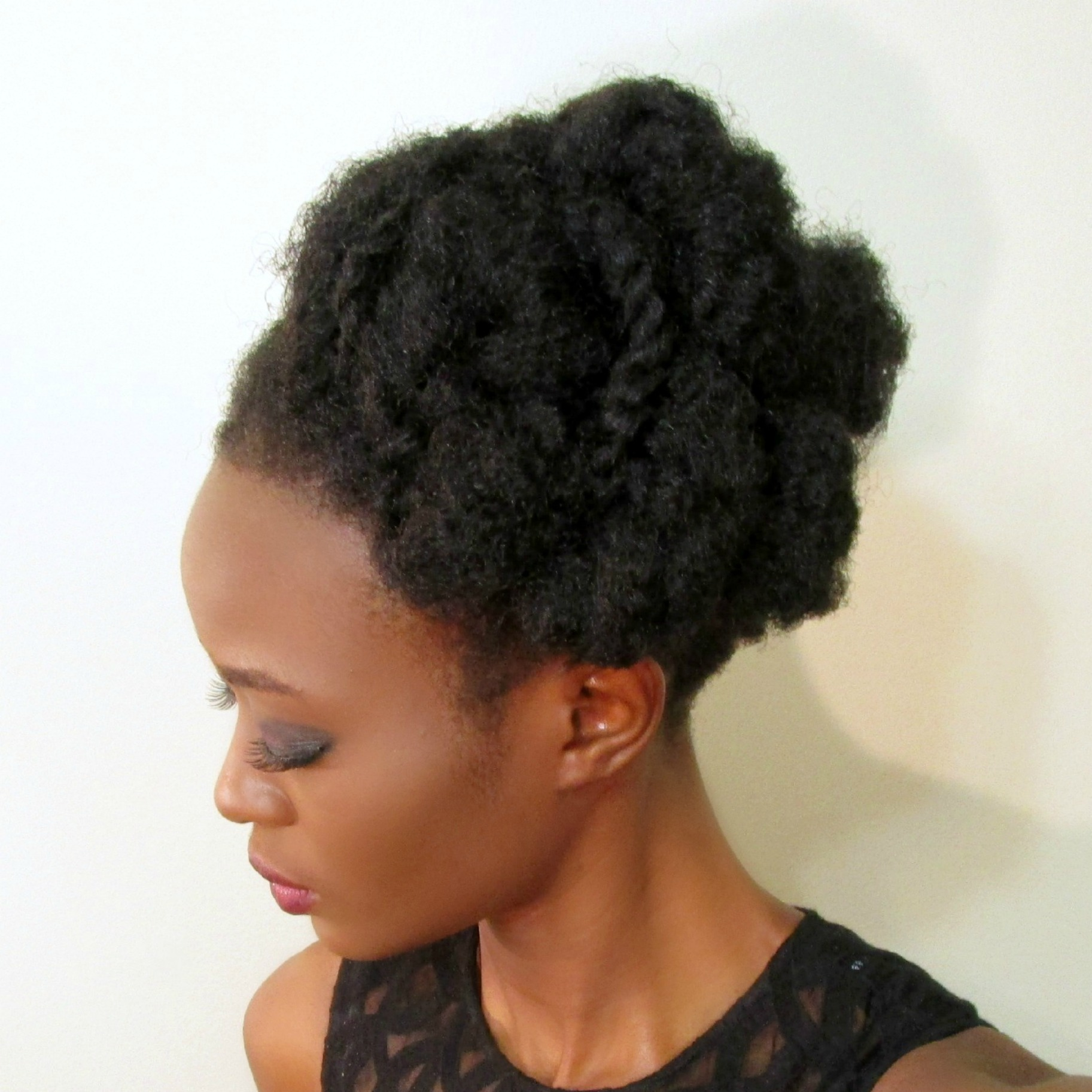 4c Twisted Holiday Hair Updo Snake In A Bun Shea