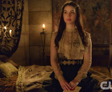 "Queen Mary sits on her bed in Reign's ""No Way Out"""