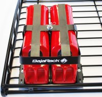 Baja Rack Fuel Can holder for two 5 Gal Cans [BR-FCH2-0 ...