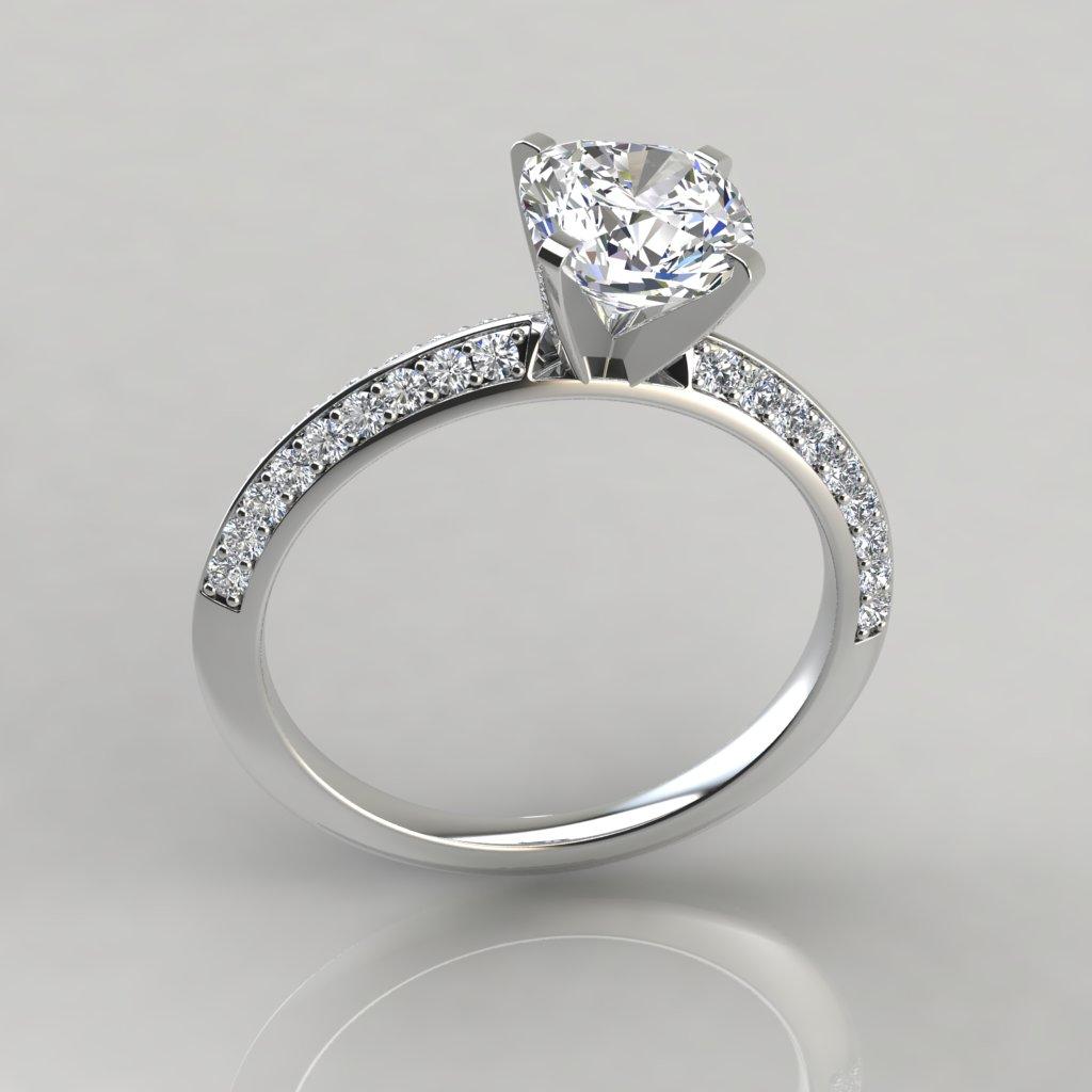 Fullsize Of Cushion Cut Engagement Rings