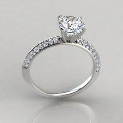 Idyllic 253w2 Knife Edge Pave Cushion Cut Engagement Ring By Pure Gems Jewels Cushion Cut Engagement Rings Definition Cushion Cut Engagement Rings 2 Carat