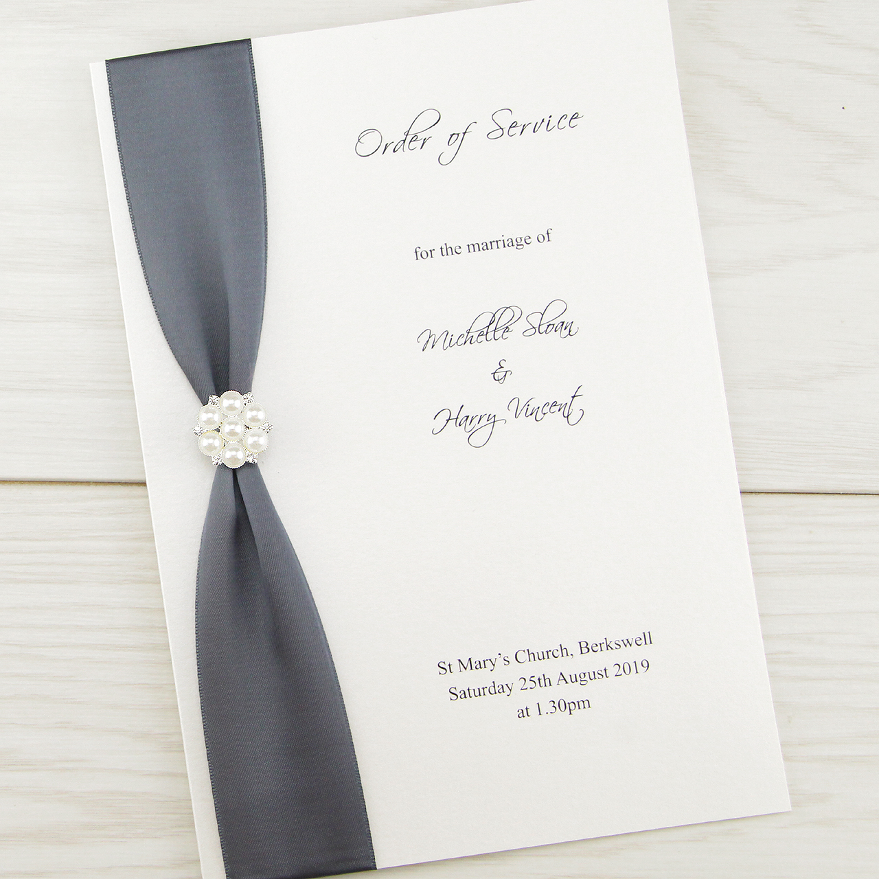Cluster Order Of Service Pure Invitation Wedding Invites