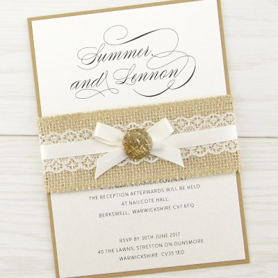 The Dixie Parcel Wedding Invitation | Pure Invitation ...