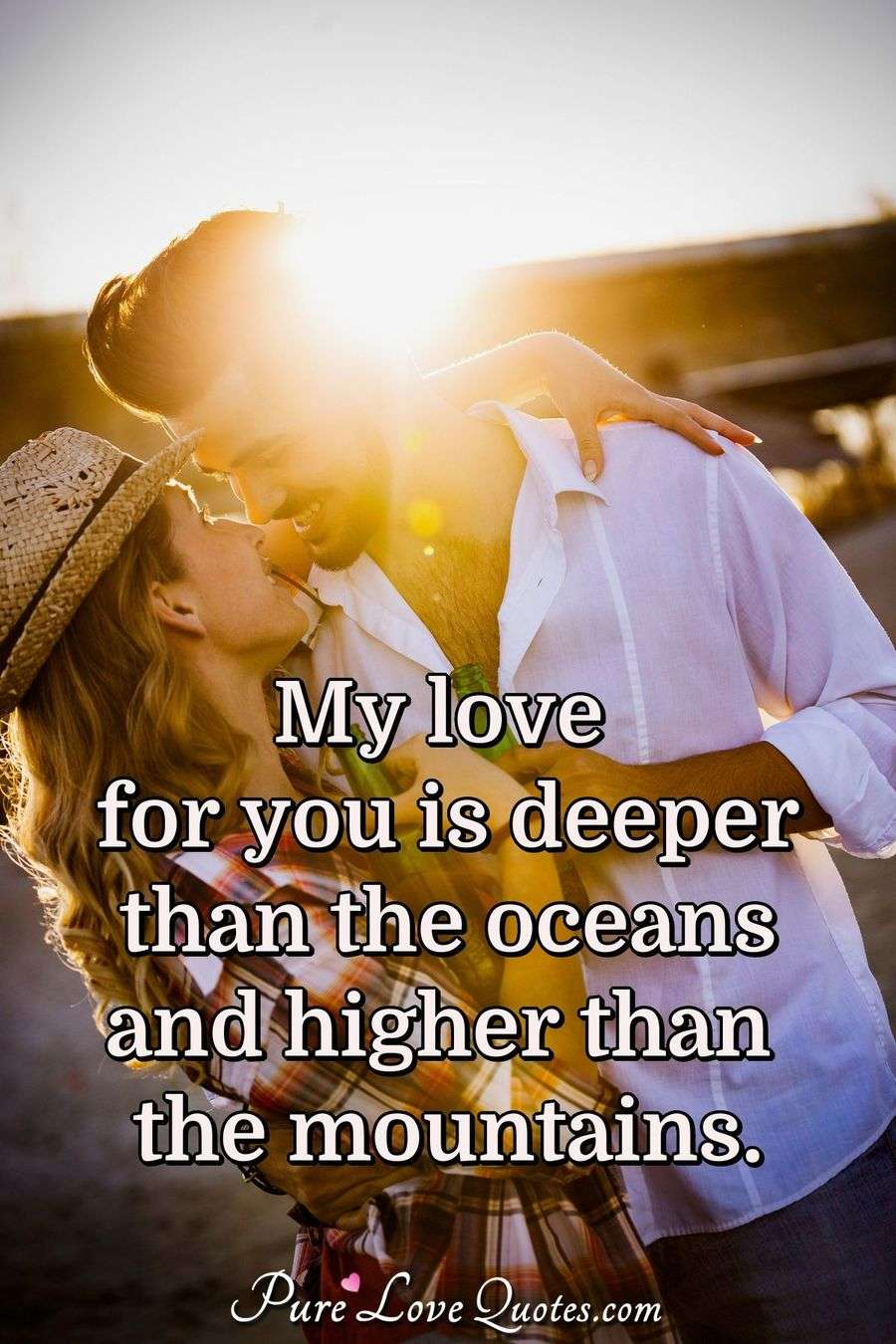 Cute Love Quotes Wallpapers For Him My Love For You Is Deeper Than The Oceans And Higher Than