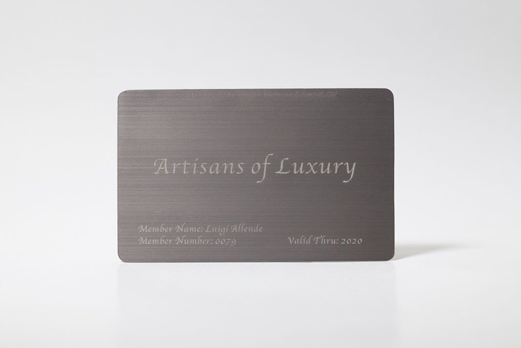 Pure Metal Cards - Brushed Titanium Cards