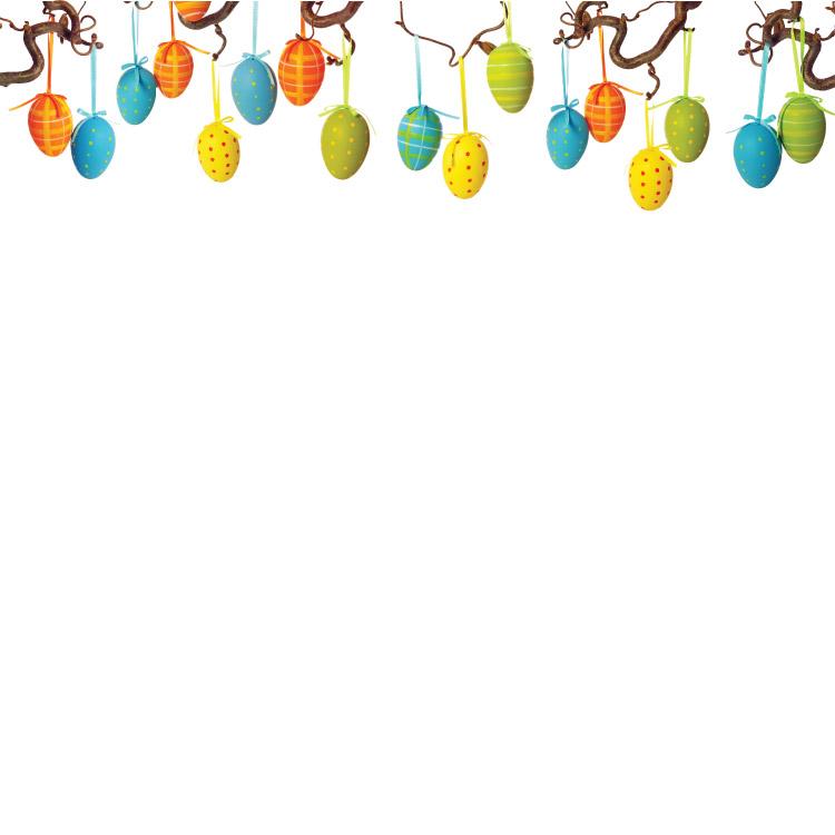 Easter Egg Branch Border