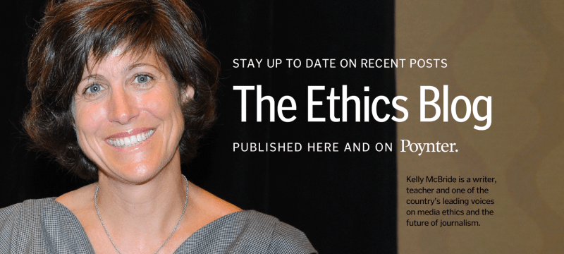 Kelly McBride, journalism´ethics professor, Poynter Institute:The Poynter Institute