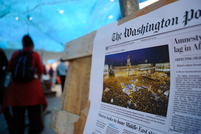 The Washington Post promovido en las calles.Google Images