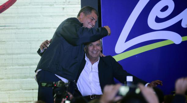 Ecuador Rafael Correa apoyó a su candidato Lenín Moreno. Foto AFP el comercio.com