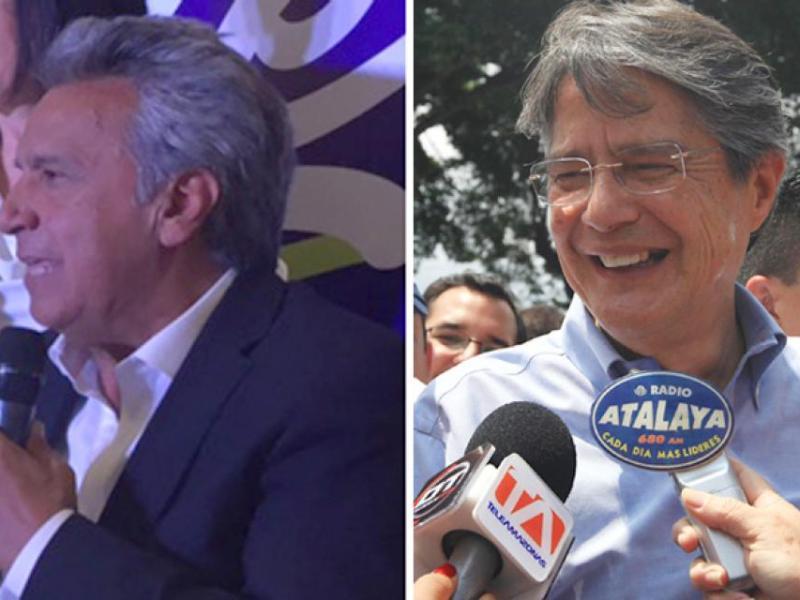 Ecuador candidatos Lenín Moreno y Guillermo Lasso. Foto elcomercio.com