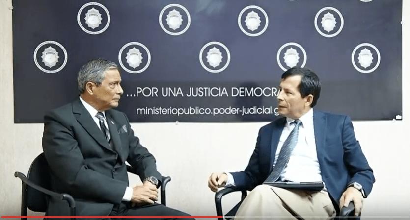 Fiscal General Jorge Chavarría entrevista Edgar Fonseca. Foto PuroPeriodismo.com