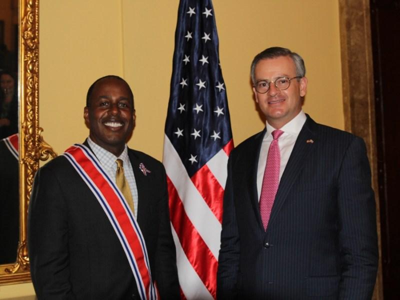 Embajador EE.UU.y Canciller González. Foto rr.ee.go.cr