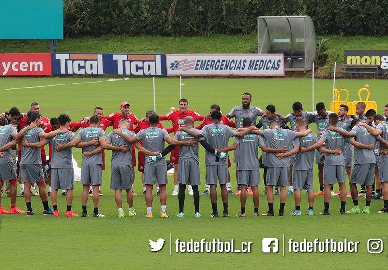 Seleccion Nacional Costa Rica. Foto Twitter fedefutbol.com