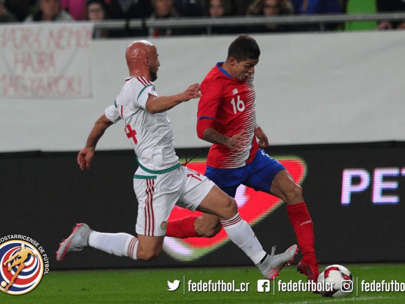 Hungría-Costa Rica. Foto Twitter fedefutbol.com