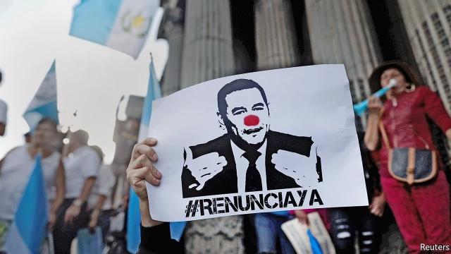 Guatemala protestas. Foto Reuters. economist.com