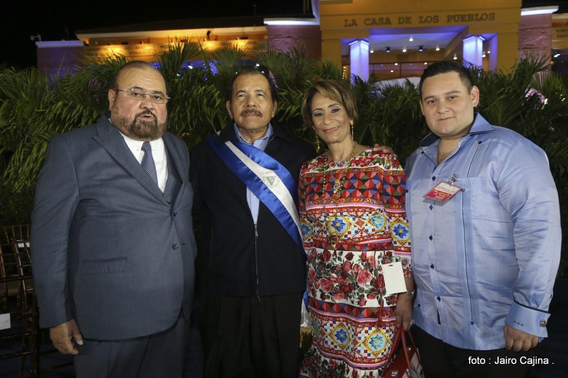Magistrado Roberto Rivas junto a Daniel Ortega. Foto Gobierno de Nicaragua.comjpg