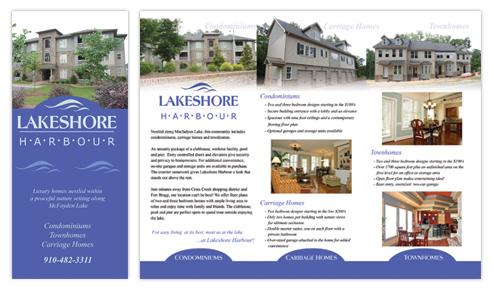 Brochure  Postcard Design - Professional Graphic Design, Houston, Texas - sample real estate brochure