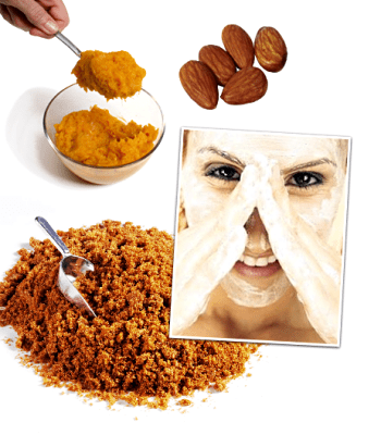Natural homemade facial scrub
