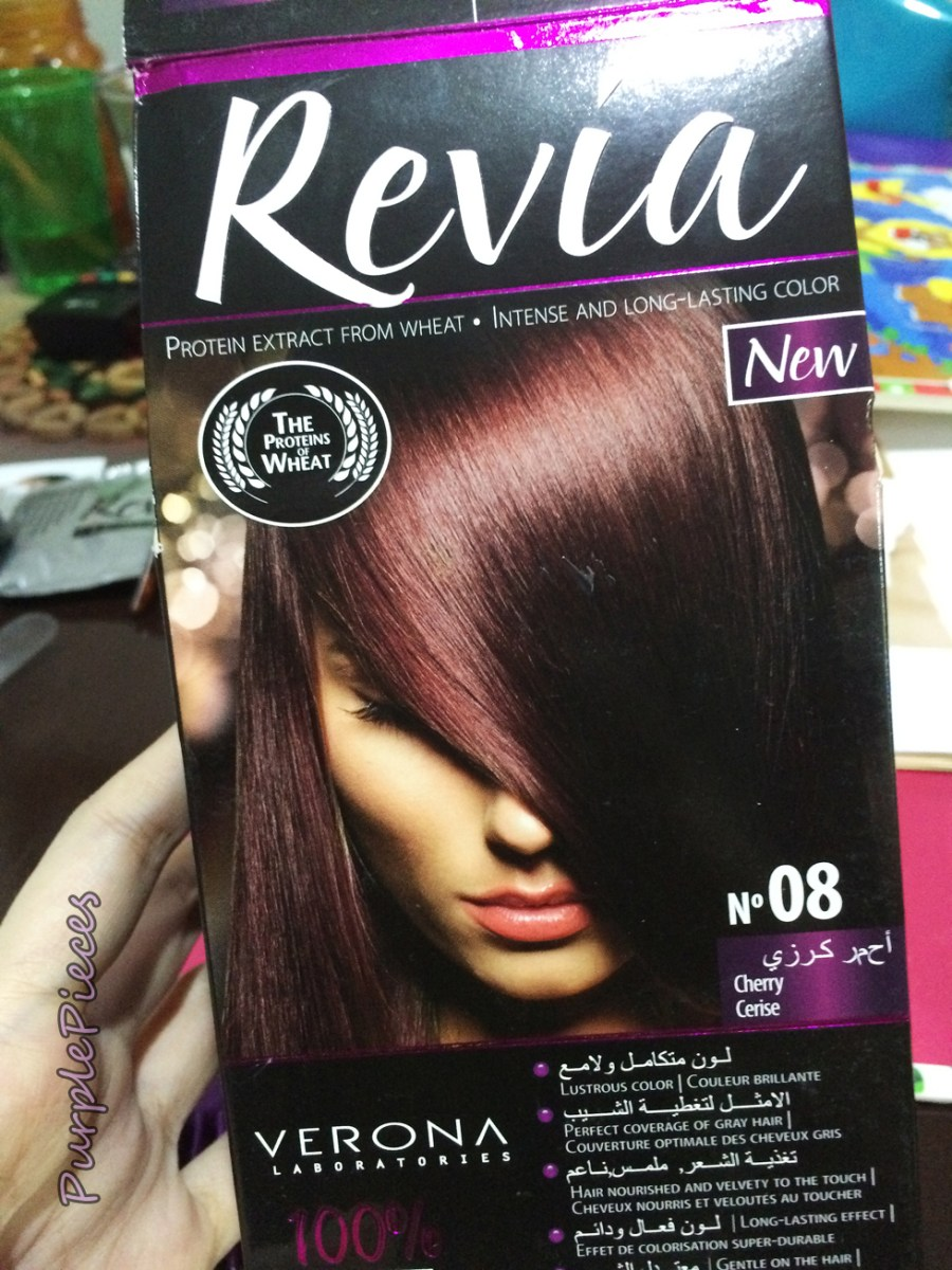 Revia Hair Color Cream Review in Cherry
