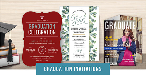 Personalized Graduation Cards  Stationery - PurpleTrail - graduation photo invitations