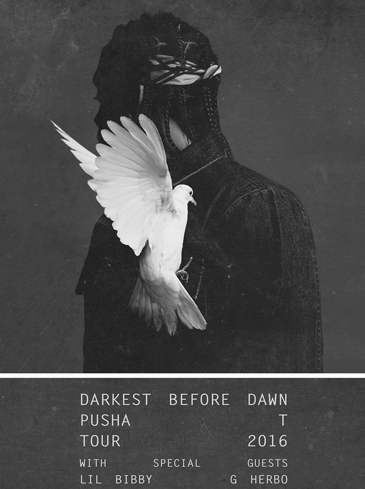 Pusha T Announces 2016 Darkest Before Dawn Tour, feat. G Herbo and Lil Bibby
