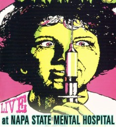Poster from the Cramps, a punk rock band that once did a concert at the Napa State Hospital.