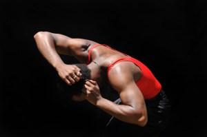 Deaf dancer Antoine Hunter.  Photo by Richard Downing.