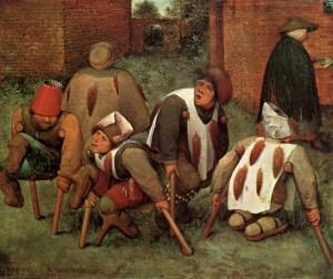 The Cripples by Pieter Bruegel the Elder.  1568